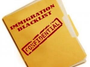 Immigration Blacklist